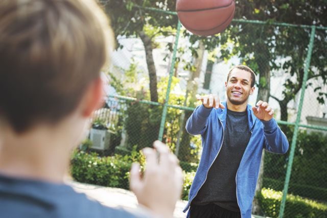 Two males playing basketball - Vallejo, CA 94590