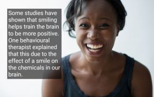 African American woman with a healthy smile, with text - Vallejo, CA